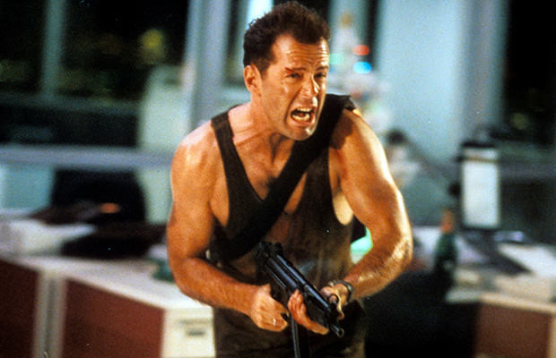 Young Bruce Willis in Die Hard